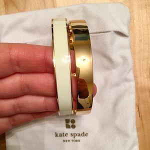 Set of Two Kate Spade Idiom Bangle Bracelets
